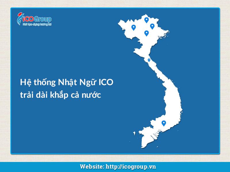 Nhật Ngữ ICO có 22 chi nhánh trên cả nước.