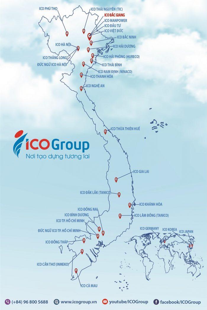 Du học sinh du học Nhật Bản có thể đến bất kỳ chi nhánh nào trong 28 chi nhánh ICO trên toàn quốc